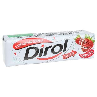 Dirol, 14 g, chewing gum, Strawberry Glade, m / s