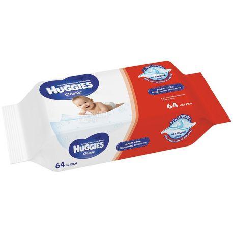 Huggies, 64 pcs., Wipes, Classic, m / s