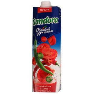 Sandora, Овощной коктейль,Томатный, 0,95 л, Сандора, Сок пикантный  с солью, восстановленный