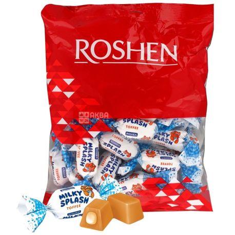 Roshen, 200 г, конфеты ирис, Milky Splash, С молочной начинкой, м/у