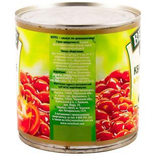 Верес, 400 г, квасоля, В томатному соусі, ж/б