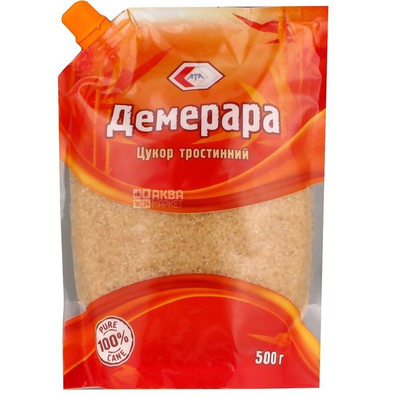 Демерара, 500 г, сахар тростниковый рассыпной, дойпак