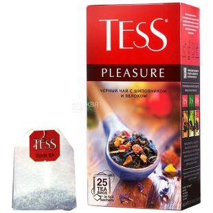 Tess, Pleasure, 25 пак., Чай Тесс, Плеж, чорний з шипшиною і яблуком