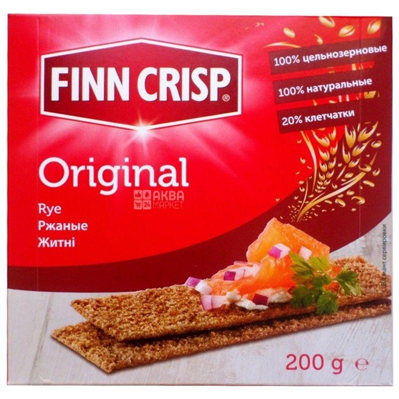 Finn Crisp, 200 г, сухарі житні, Original, м/у