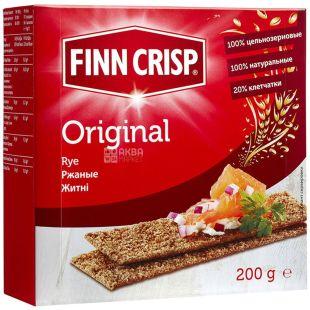Finn Crisp, 200 г, сухарики ржаные, Original, м/у