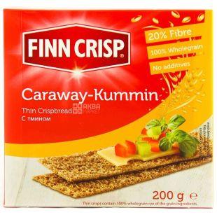Finn Crisp, 200 g, rye croutons, With cumin, Caraway, m / s