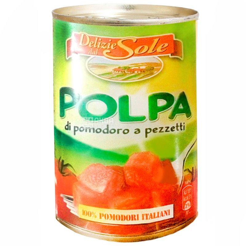 Delizie dаl Sole, 0.4 кг, помидоры консервированные