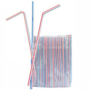 Promtus, tubule, 200 pcs., Striped, Color, m / y