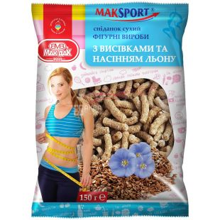 Mac-yes, 200 g, curly products with bran and flax seeds, m / y
