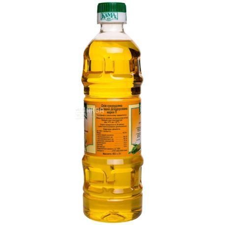 Кама, 455 г, олія, Кукурудзяна, Нерафінована, Першого холодного віджиму, ПЕТ