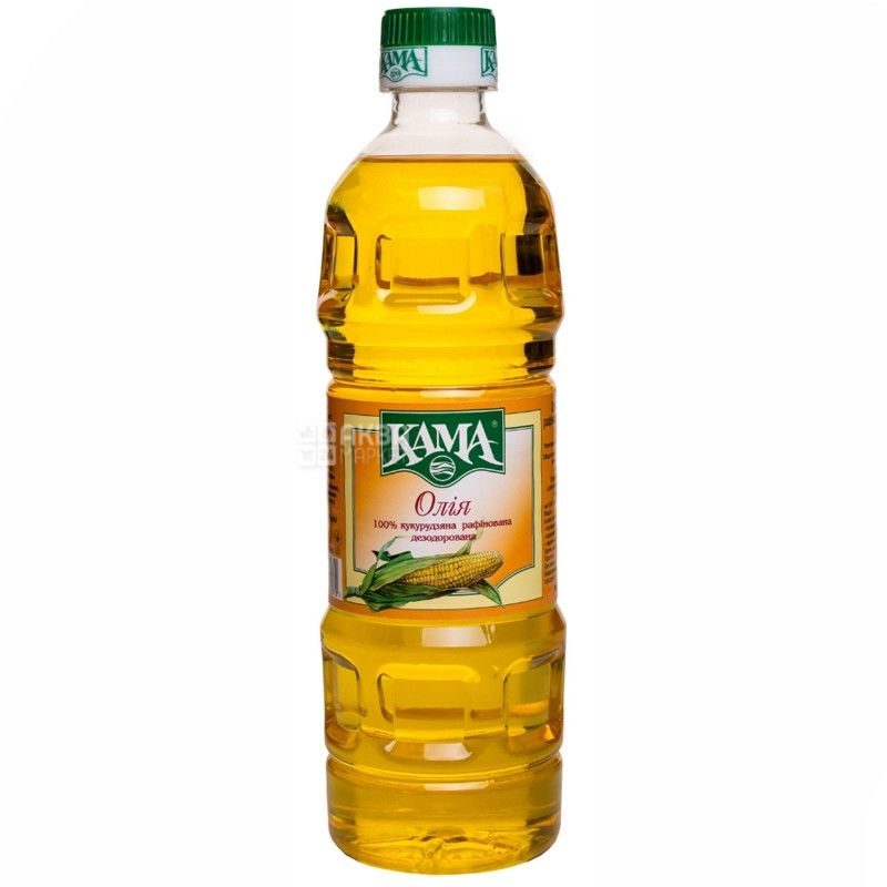 Кама, 455 г, масло, Кукурузное, Нерафинированное, Первого холодного отжима, ПЭТ
