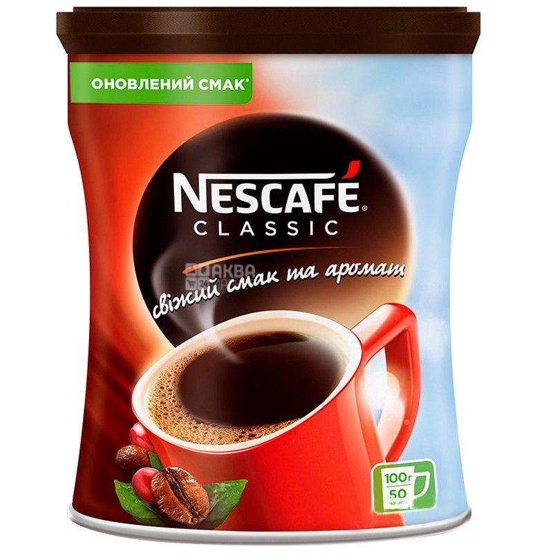 Nescafe Classic, 100 г, растворимый кофе, ж/б