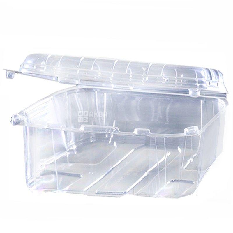Контейнер харчовий, 110х190х85 мм, 1,6 л, прозорий, 100 шт.