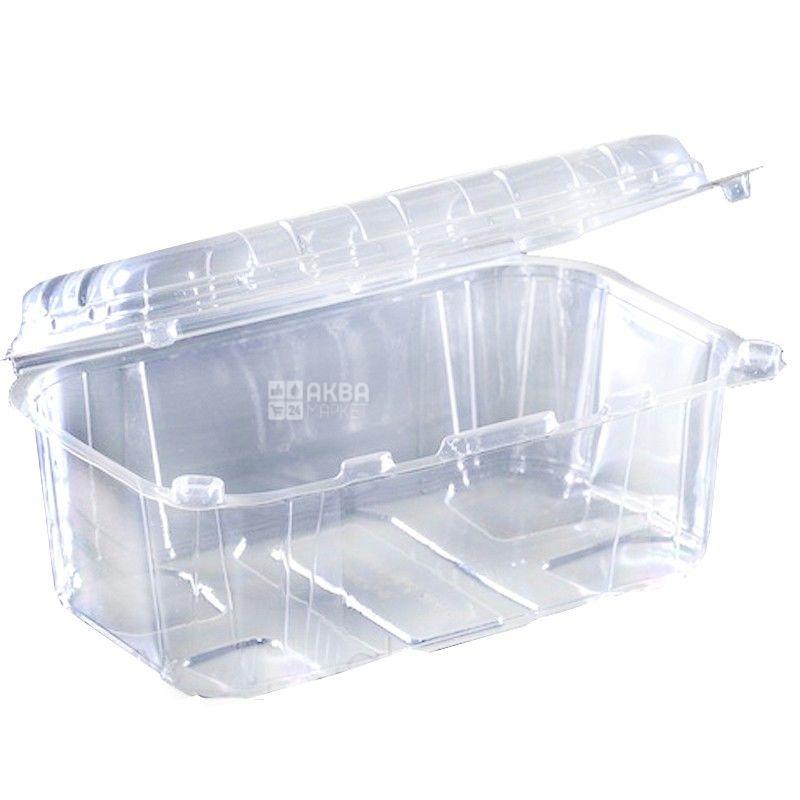 Контейнер пищевой, 110х190х85 мм,1,6л, прозрачный, 100 шт.