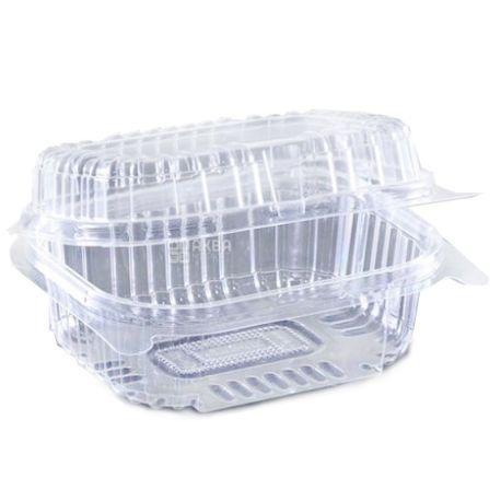 Контейнер харчовий, 100х130х58 мм, 560 мл, прозорий, 100 шт., блістер