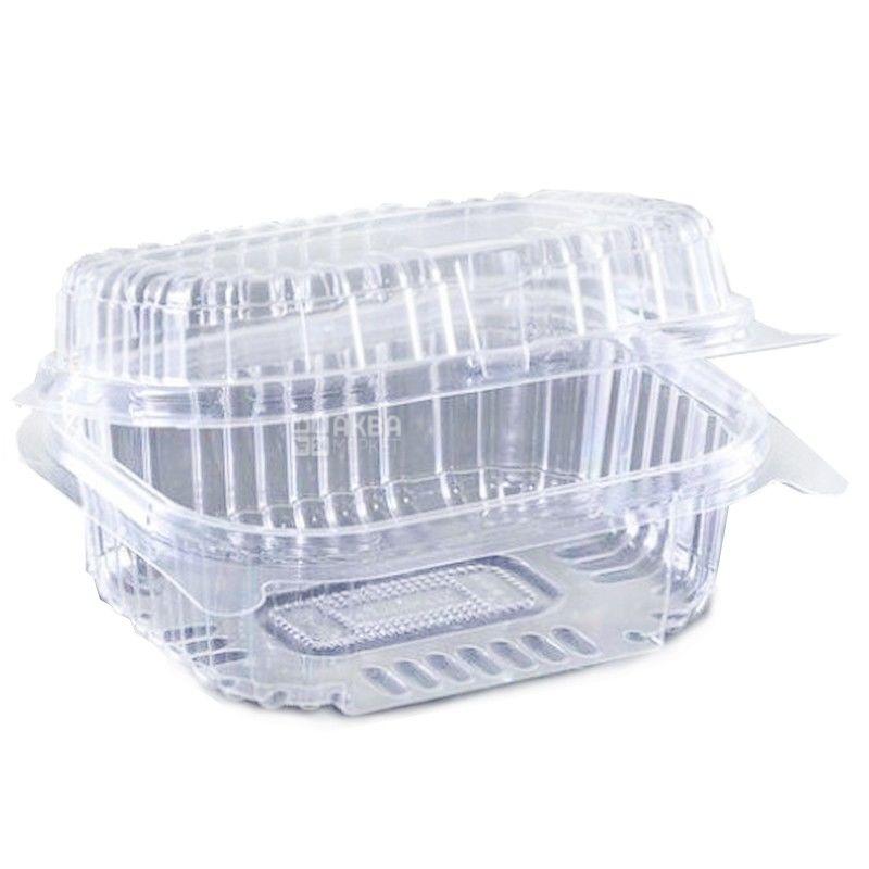 Контейнер пищевой, 100х130х58 мм, 560 мл, прозрачный, 100 шт., блистер