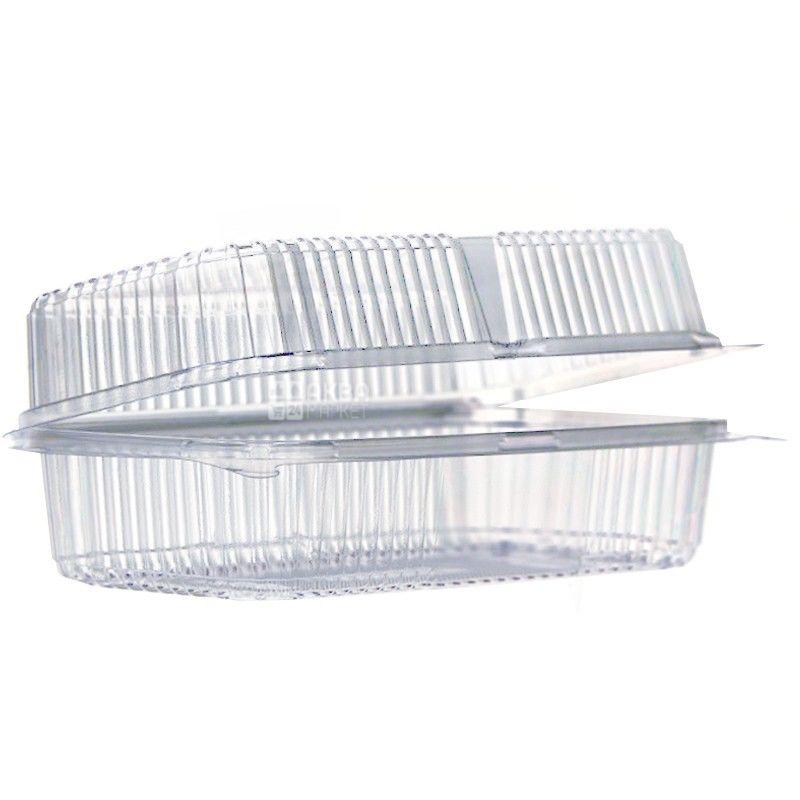 Контейнер харчовий, 130х170х68 мм, прозорий, 100 шт., блістер