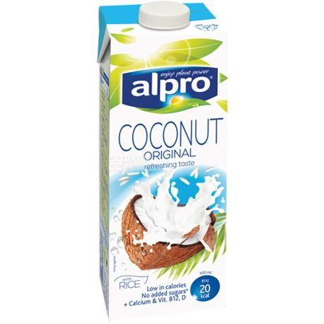 Alpro, кокосовое молоко - Coconut Original 1 л, Напиток кокосовый Алпро