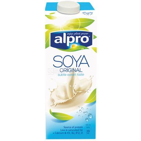 Alpro, Soya Original, 1 л, Алпро, Соевое молоко, витаминизированное