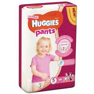 Huggies, 5 / 48 шт. 13-17 кг, підгузники-труси для дівчат