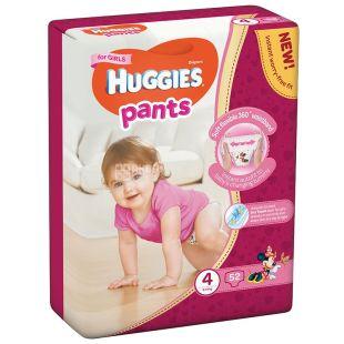 Huggies, 4 / 52 шт. 9-14 кг, Подгузники-трусики для девочек