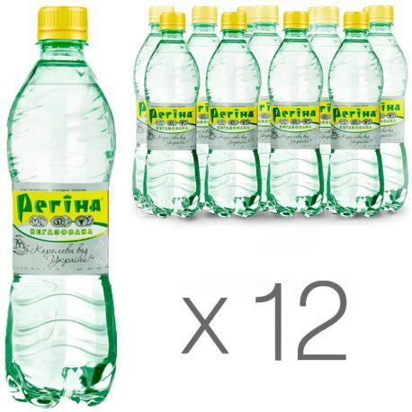 Регина, Упаковка 12 шт. по 0,5 л, Вода негазированная, Минеральная, ПЭТ
