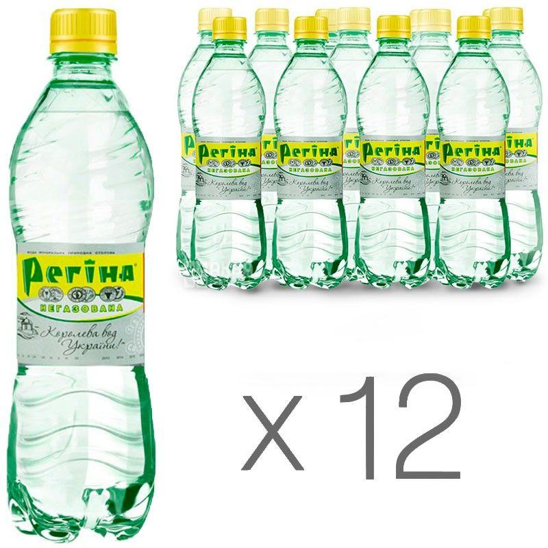 Регина, 0,5 л, Упаковка 12 шт., Вода негазированная минеральная, ПЭТ