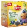 Lipton, Blueberry muffin, 20 шт., Чай Липтон, Черничный кекс, Черный