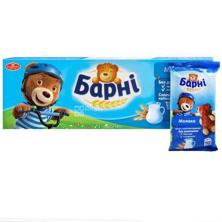 Барни, 150 г, Бисквит, Шоколадный, С начинкой, Молоко, картон