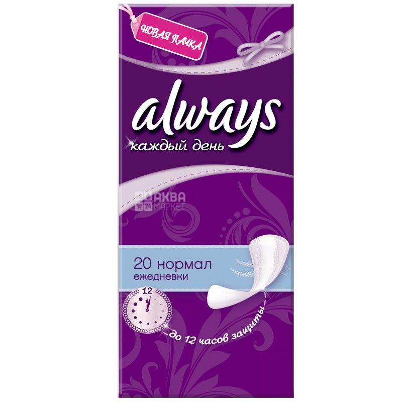 Always, 20 шт., прокладки, Everyday Normal Single