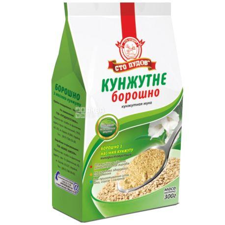 Сто Пудов, Мука кунжутная, высший сорт, 0,3 кг