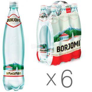 Borjomi, Упаковка 6 шт. по 0,75 л, Вода сильногазированная, Минеральная, ПЭТ