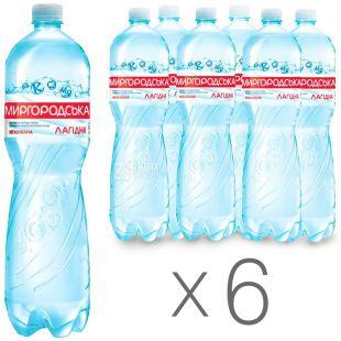Миргородская, Упаковка 6 шт. по 1,5 л, Вода негазированная, Минеральная, Лагидна, ПЭТ