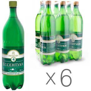 Ессентуки-4, 1,5 л, Упаковка 6 шт., Вода минеральная газированная, ПЭТ