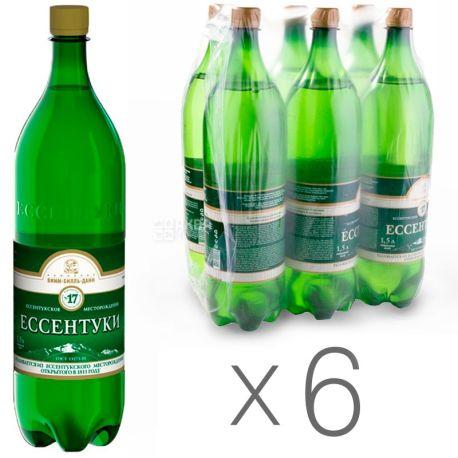 Єсентуки-17, 1,5 л, Упаковка 6 шт., Вода мінеральна газована, ПЕТ