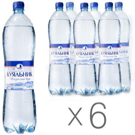Куяльник, упаковка 6 шт. по 1,5 л, сильногазированная вода, ПЭТ
