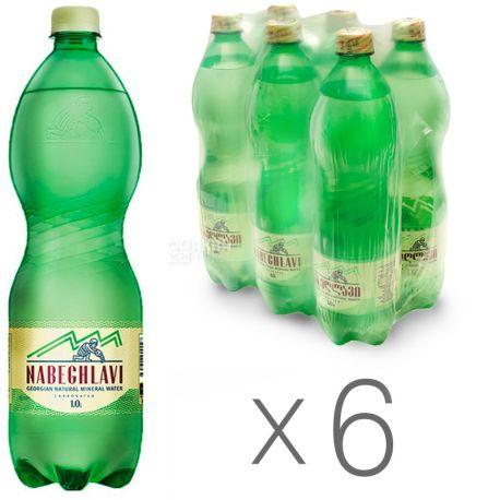Nabeghlavi, 1л, Набеглави, Упаковка 6 шт., Вода минеральная сильногазированная, ПЭТ
