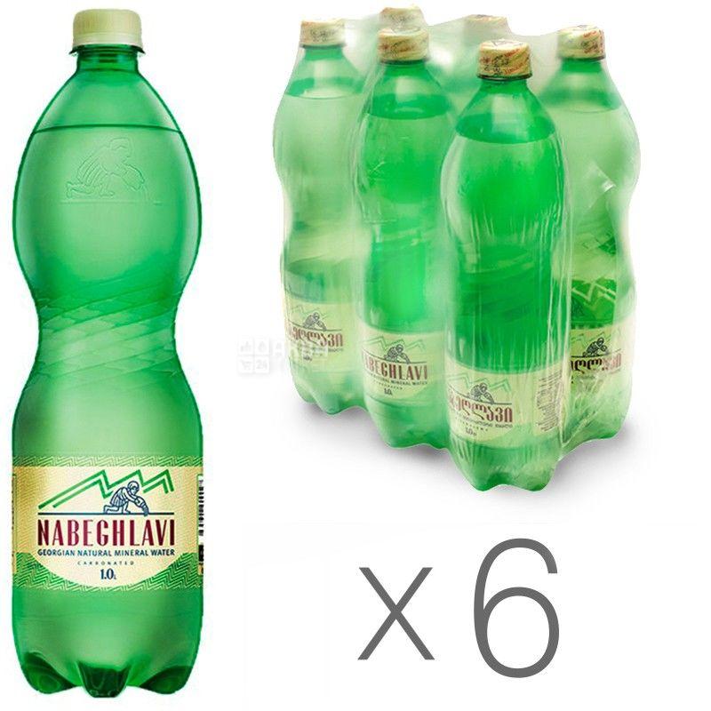Набеглави, упаковка 6 шт. по 1 л, сильногазированная вода, ПЭТ