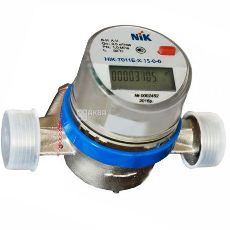 NIK, Счетчик для холодной воды, Электронный, НІК-7011Е-Х-15-0-0