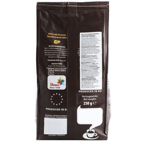 Totti Caffe, 250 г, молотый кофе, Ristretto, м/у