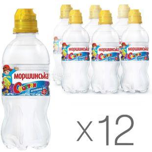 Morshynska, Packing 12 pcs. on 0,33 l, Water not aerated for children Sportik, PET, PAT