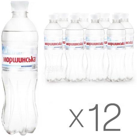 Моршинская, Упаковка 12 шт. по 0,5 л, Вода негазированная, ПЭТ