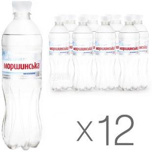 Моршинская, упаковка 12 шт. по 0,5 л, негазированная вода, ПЭТ