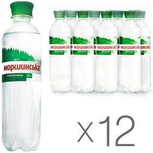 Моршинская, 0,5 л, упаковка 12 шт., Вода минеральная слабогазированная, ПЭТ