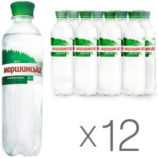 Morshynska, Packing 12 pcs. 0.5 l each, lightly carbonated water, PET, PAT