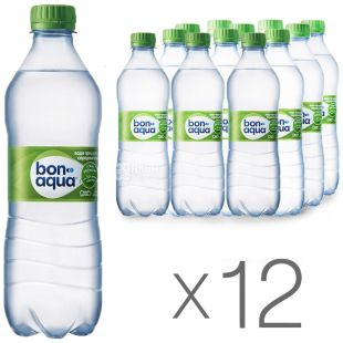BonAqua, pack of 12 pcs. 0.5 l each, lightly carbonated water, PET, PAT