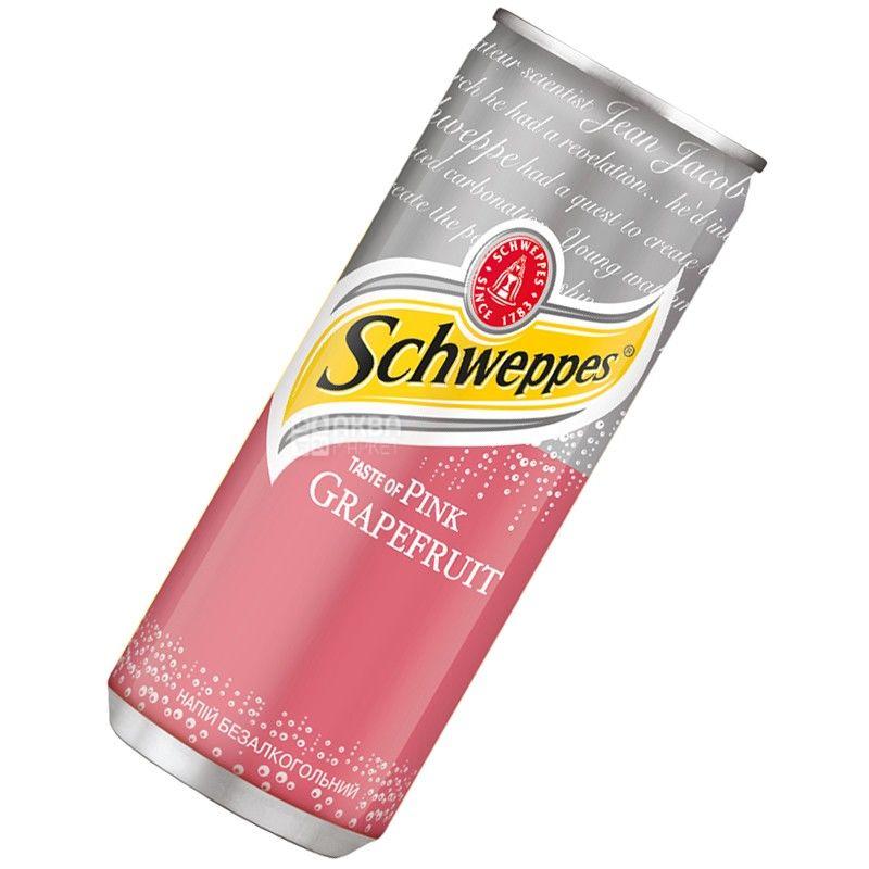 Schweppes, 0,33 л, Сладкая вода, Pink Grapefruit, ж/б