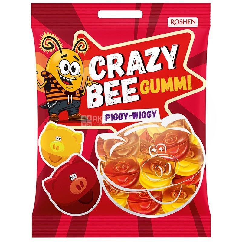 Roshen, 100 г, конфеты желейные, Crazy Bee, Свинки, м/у