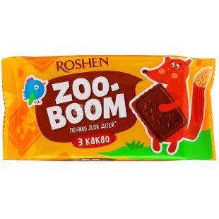 Roshen, 68 г, печенье, Zoo-Boom, С какао, Для детей, м/у