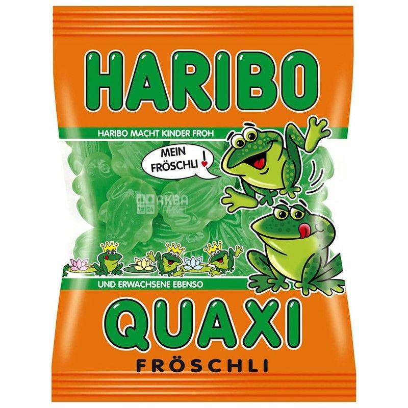 Haribo, 100 г, жевательные конфеты, Лягушки, м/у
